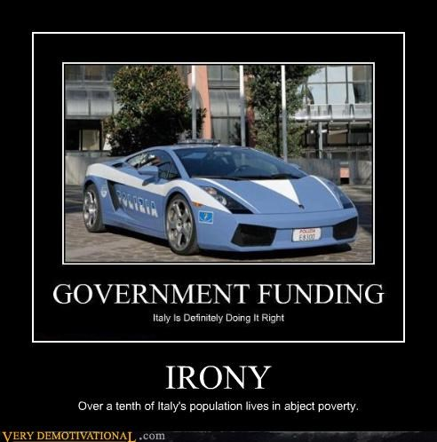 cars europe government Italy poverty Sad sports car sweet