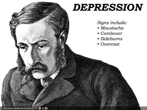 depression,funny,gentleman,help,illustration