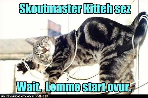 caption captioned cat FAIL instruction lesson let me messed up mistake over start string tangled wait - 4044406016