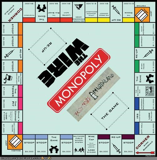cool fake game monopoly shoop The Wire TV