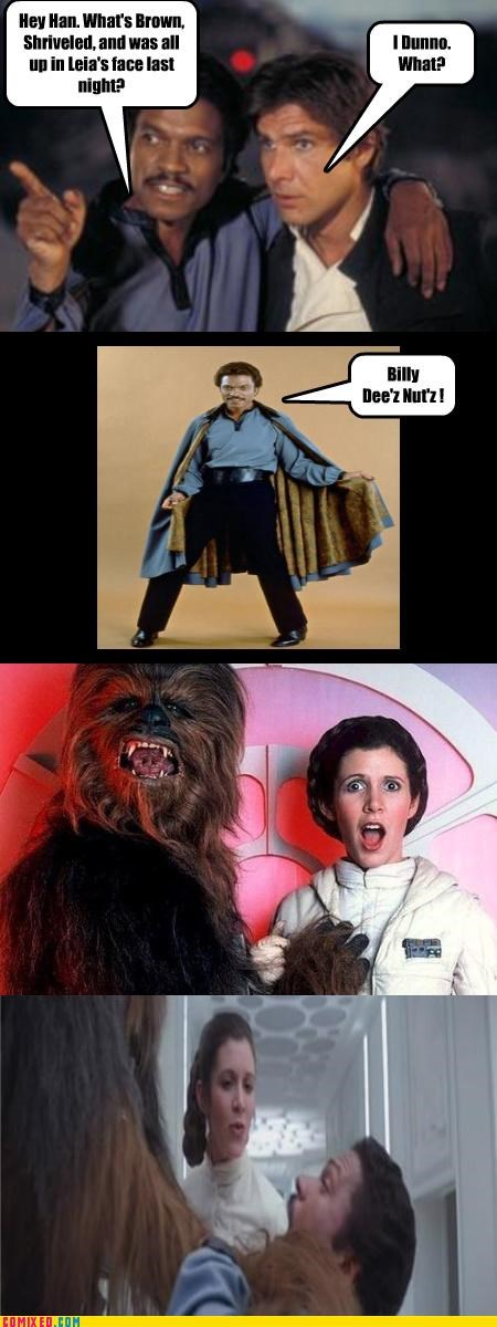 chewbacca Lando Calrissian Princess Leia puns star wars - 4044729856