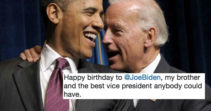 President Obama tweets out a hilariously rude meme in honor of Joe Biden's birthday.