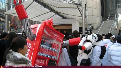 robots sci fi star wars stormtrooper the singularity vending machines wtf - 4044927232