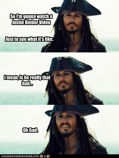 captain jack sparrow comixed Johnny Depp justin bieber lolz pirates of the carribean - 4044966912