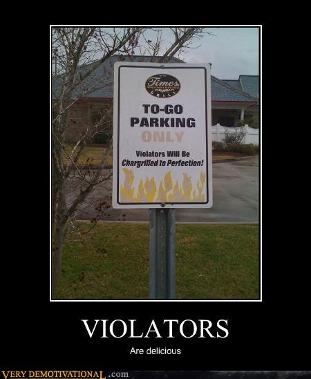 cannibalism,fire,parking,Terrifying,violation,warning
