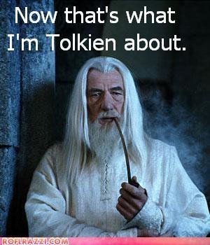 ian mckellen jrr-tolkein jokes lolz Lord of the Rings puns sci fi - 4045160192