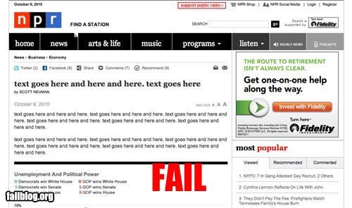 failboat g rated headline lorem ipsum NPR Probably bad News - 4047223552