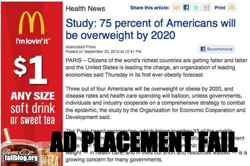 ad placement failboat food g rated McDonald's obesity online - 4048531968