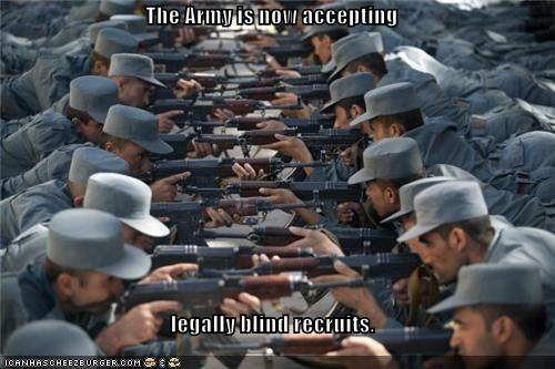 The Army is now accepting legally blind recruits.