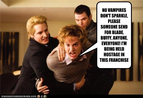 NO VAMPIRES DON'T SPARKLE, PLEASE SOMEONE SEND FOR BLADE, BUFFY, ANYONE, EVERYONE! I'M BEING HELD HOSTAGE IN THIS FRANCHISE