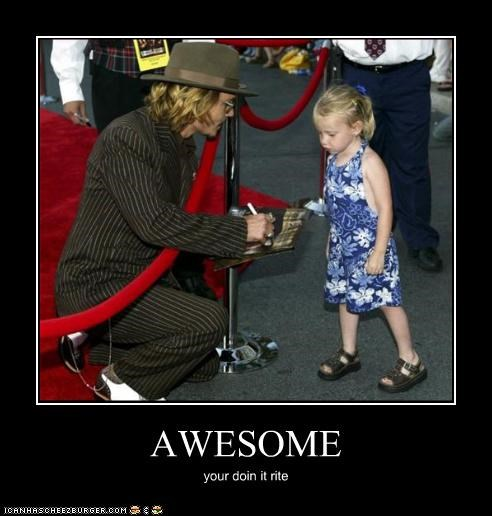 actor awesome celeb demotivational funny Hall of Fame Johnny Depp
