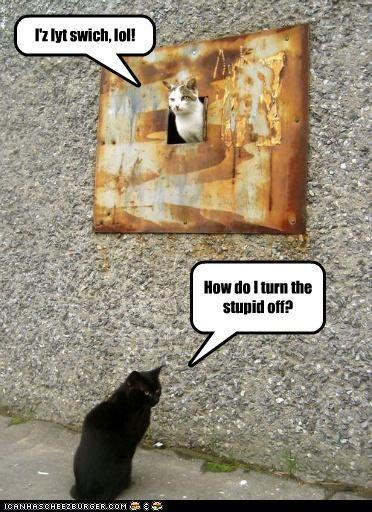 I'z lyt swich, lol! How do I turn the stupid off?