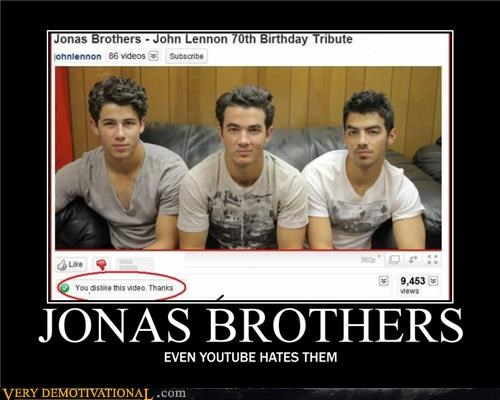 hate,hilarious,jonas brothers,Mean People,Music,skynet,the internet,youtube