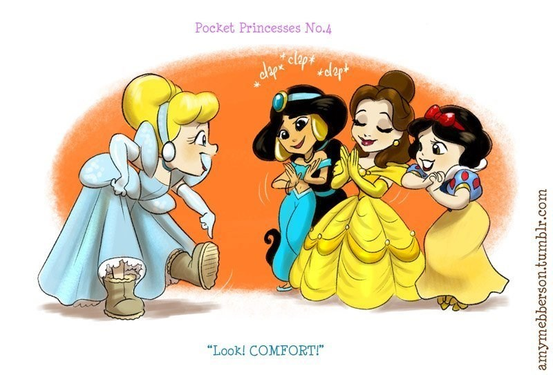 A comic series describing the life of Disney princesses living together