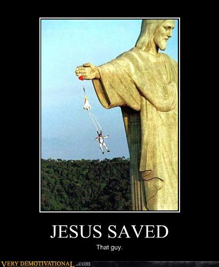 hilarious,jesus,miracle,parachute,saved,that guy,wtf
