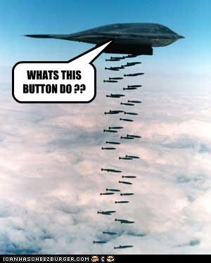 bombs,buttons,FAIL,military,oops,planes,stealth bomber