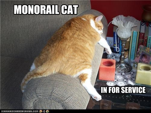 MONORAIL CAT IN FOR SERVICE