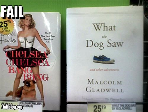 animals,books,chelsea handler,dogs,failboat,innuendo,juxtaposition,pets