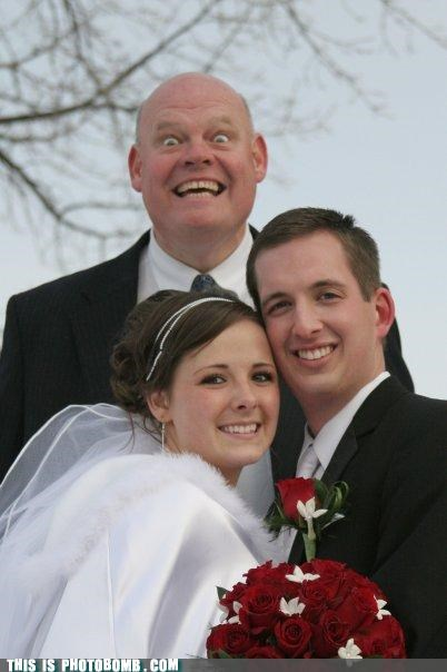 awesome face excitement Good Times marriage photobomb wedding - 4053359872
