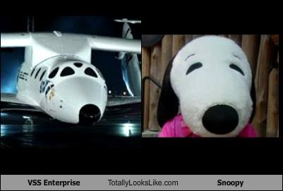 snoopy space space ship toys vss enterprise - 4053836544