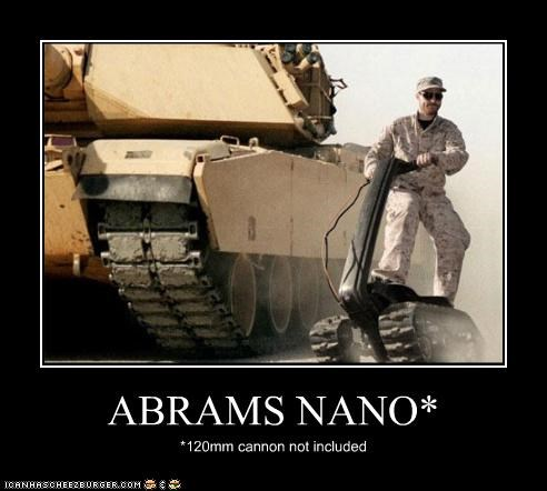 ABRAMS NANO* *120mm cannon not included
