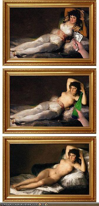 art fake funny lady painting portrait shoop - 4054812928