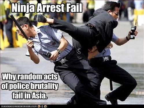 funny lolz ninja police Protest wtf - 4055037184