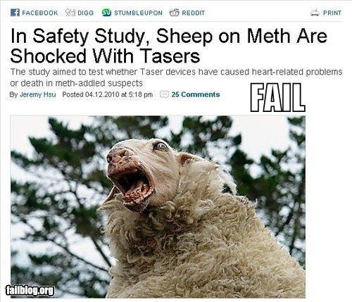 drugs failboat headline meth news Probably bad News research science study - 4055042048