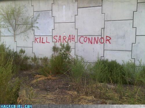 sarah,terminator,wall