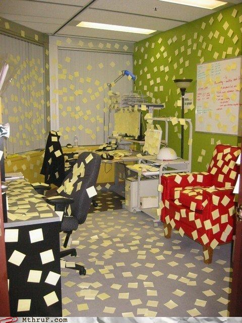 notes,Office,post it,prank