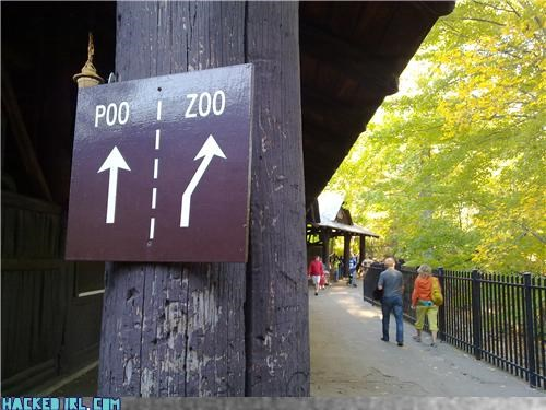 poo sign zoo - 4055231232