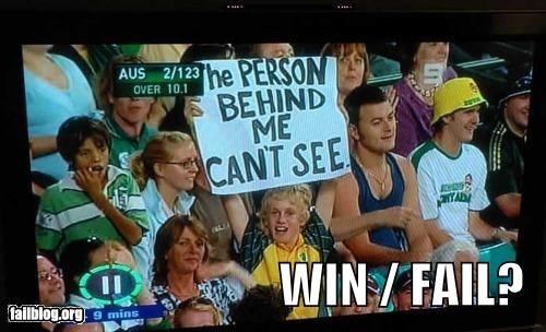 clever fail or win failboat jerks poll signs sports events - 4056029952
