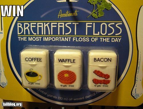 awesome breakfast dental hygiene failboat floss g rated win - 4056036096