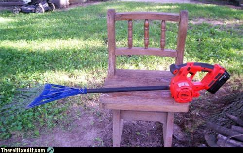 dual use leaf blower rake yard work