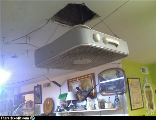 Ceiling fan is cooling you there i fixed it white trash repairs ceiling fan hole legit 4056339712 aloadofball Images