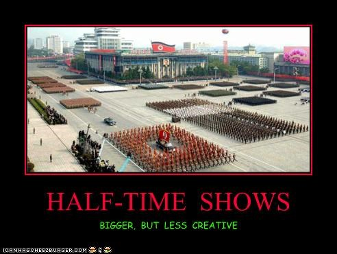 HALF-TIME SHOWS BIGGER, BUT LESS CREATIVE