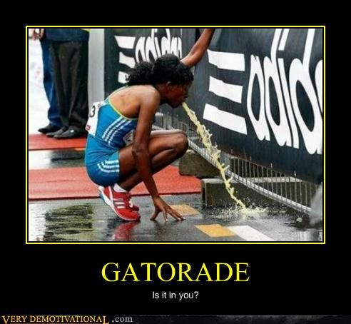 advertising athletes electrolytes gatorade Mean People mon mon mon racing running spit vomit - 4057960704