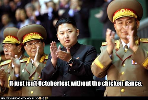 It just isn't Octoberfest without the chicken dance.
