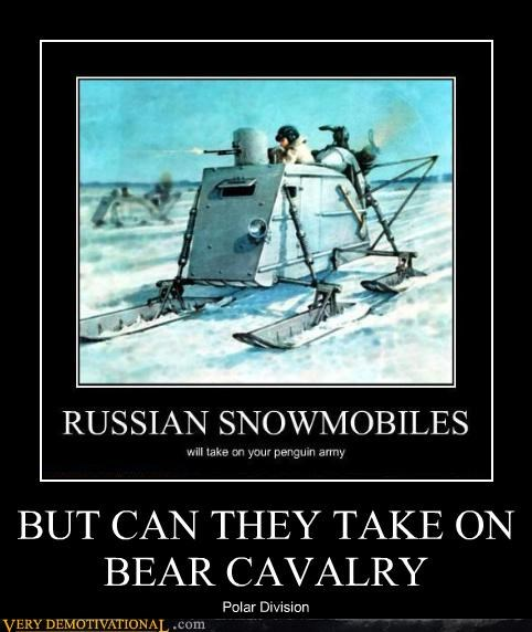 russia snowmobile bear army funny - 4058348800