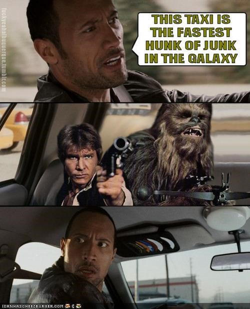 celeb comic funny sci fi shoop star wars the rock - 4058417408