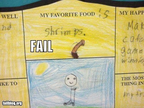 drawing failboat food illustration innuendo kids p33n schrimp