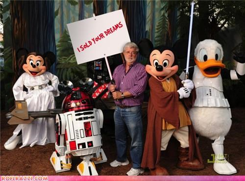 disney,Extras,george lucas,sci fi,sign,star wars