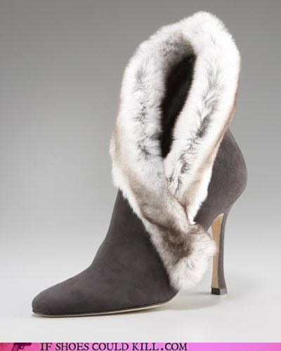 Animalia,ankle boot,boot,bootie,fur,heels,High Fashion,stole,wrap