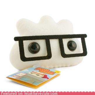 comic books dork dumpling felt glasses nerd Plush - 4060488448