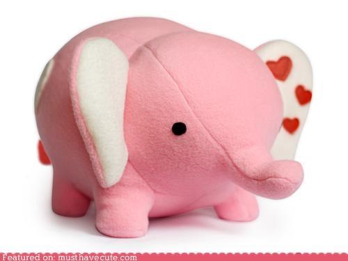 cute-kawaii-stuff elephant Fluffy kit pets pink Plush sewing soft - 4060971520