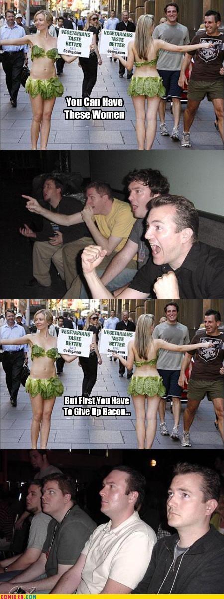 babes bacon choices freegans modern living peta politics reaction guys vegans - 4061256448