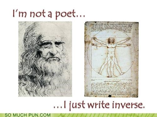 backwards denial inversion leonardo da vinci michelangelo modesty ode poety sestina sistine chapel verse