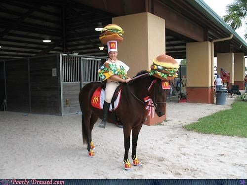 accessories,bad idea,horse,matching,McDonald's
