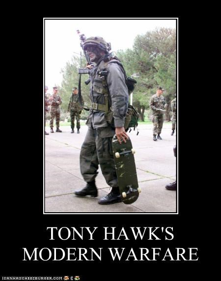 funny Hall of Fame lolz military modern warfare soldier tony hawk video game wtf - 4062339072