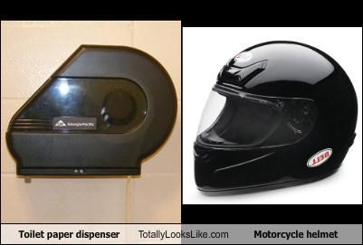 dispenser,helmet,motorcycle,toilet paper